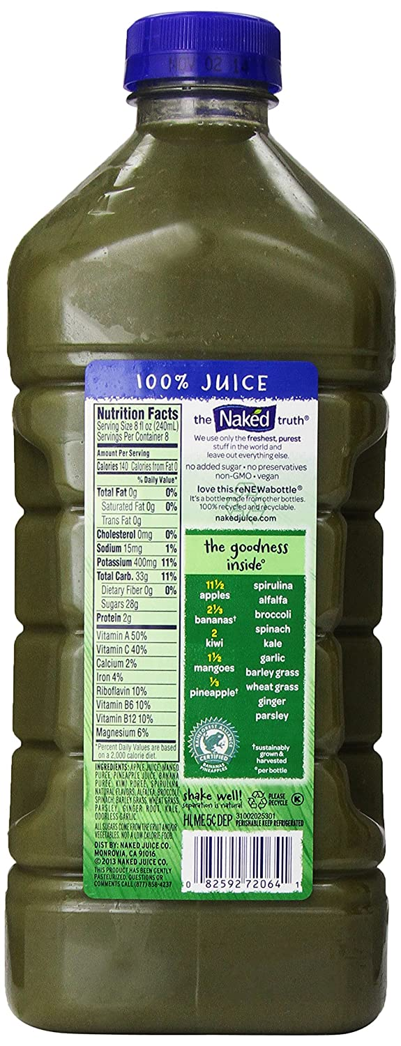 Sex girl naked juice nutrition facts