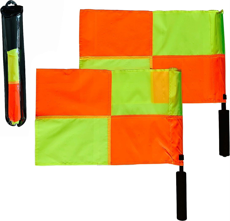 Coast Athletic Banderas de árbitro de fútbol atlético (patrón a Cuadros) | Ultra Alta Visibilidad: Amazon.es: Deportes y aire libre