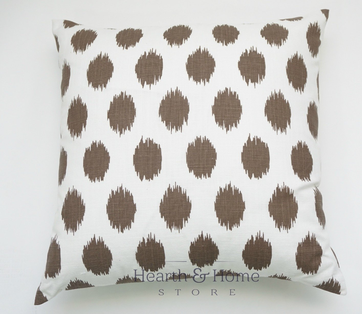 Handmade BROWN TICKING 100/% Cotton Cushion Cover.Various sizes
