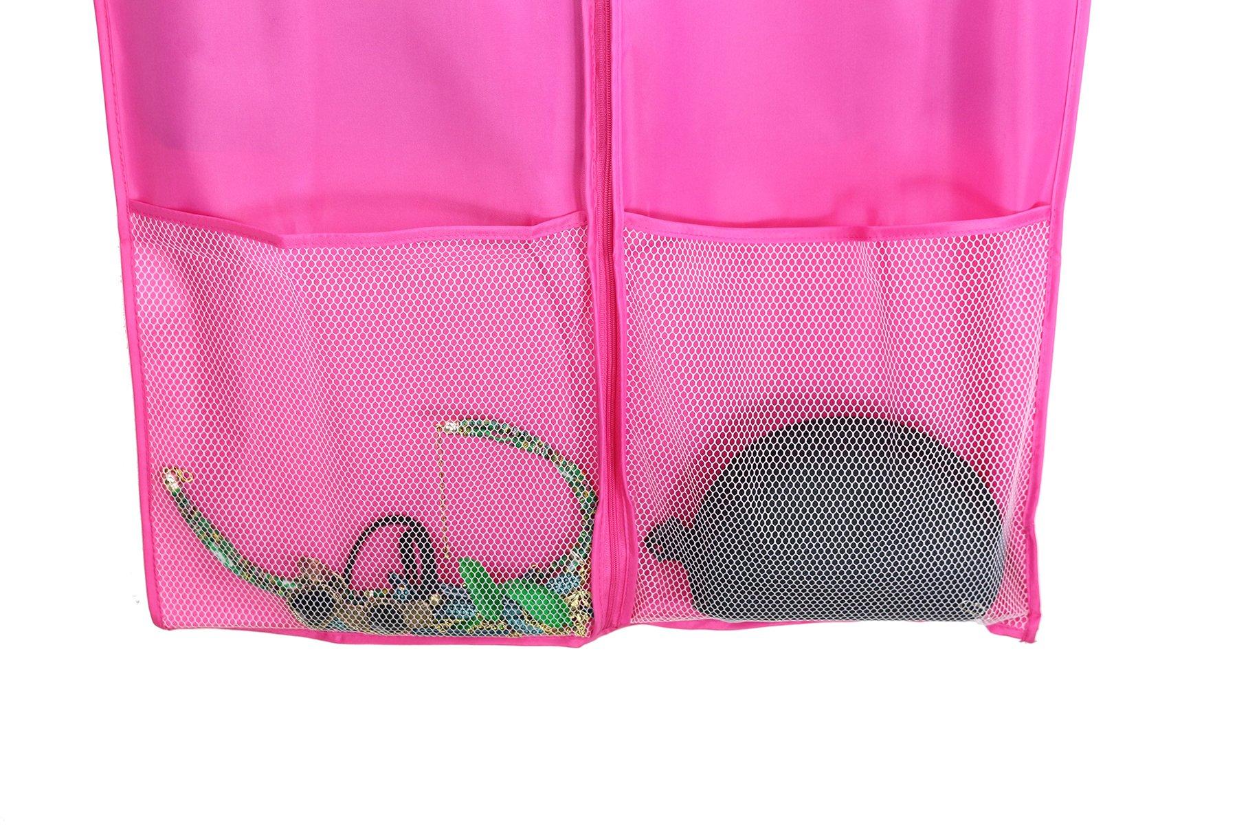 Kernorv Garment Bags for Dance Costumes, Set of 5 Breathable Dust-proof Garment Bags 51'' Dance Garment Bags with Clear Window for Dance Costumes, Dress, Jacket, Storage or Travel (Pink) by Kernorv (Image #6)