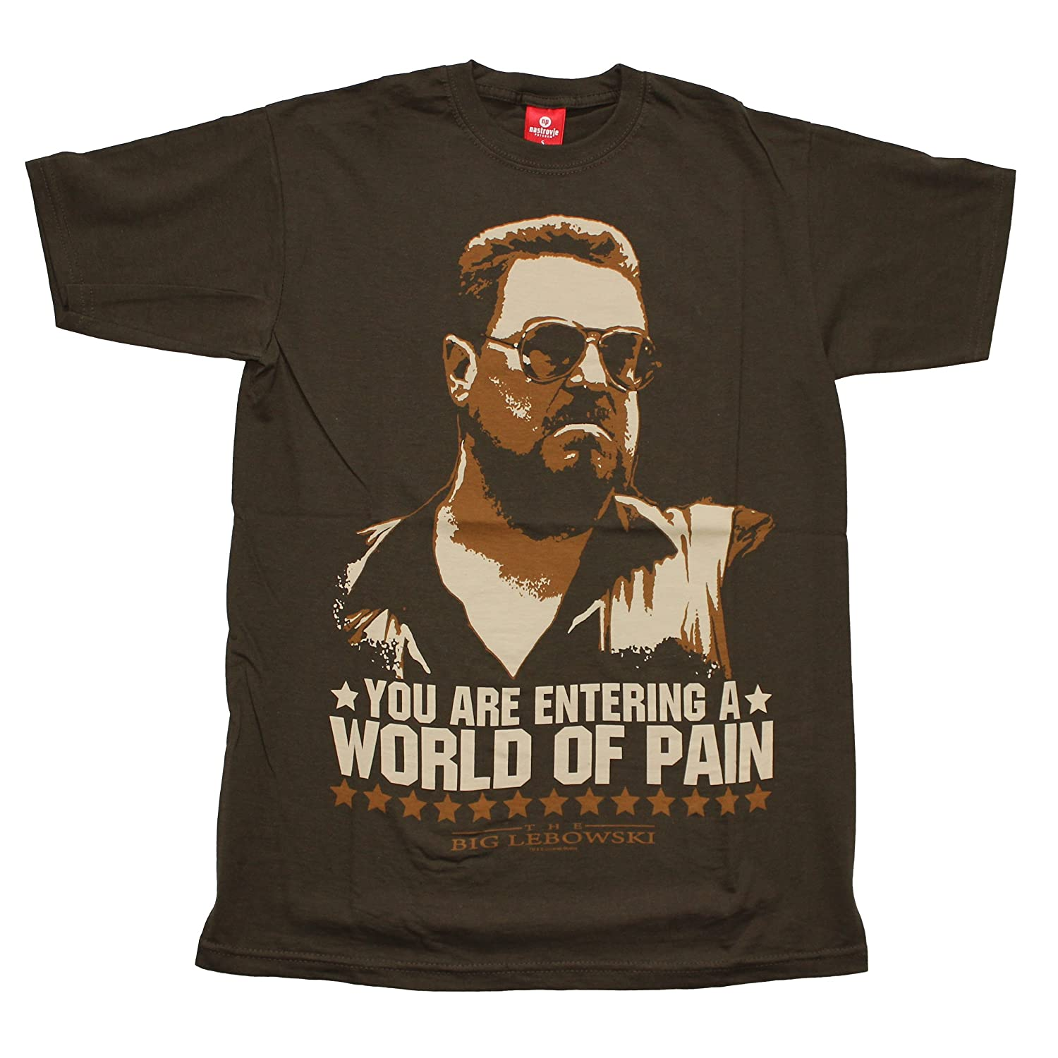 Big Lebowski World of Pain T-Shirt brun 28430