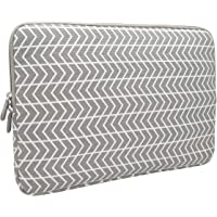 Aucase 13-14 Inch Laptop Sleeve, Canvas Thickest Lightest Water Resistant Neoprene Protective Case