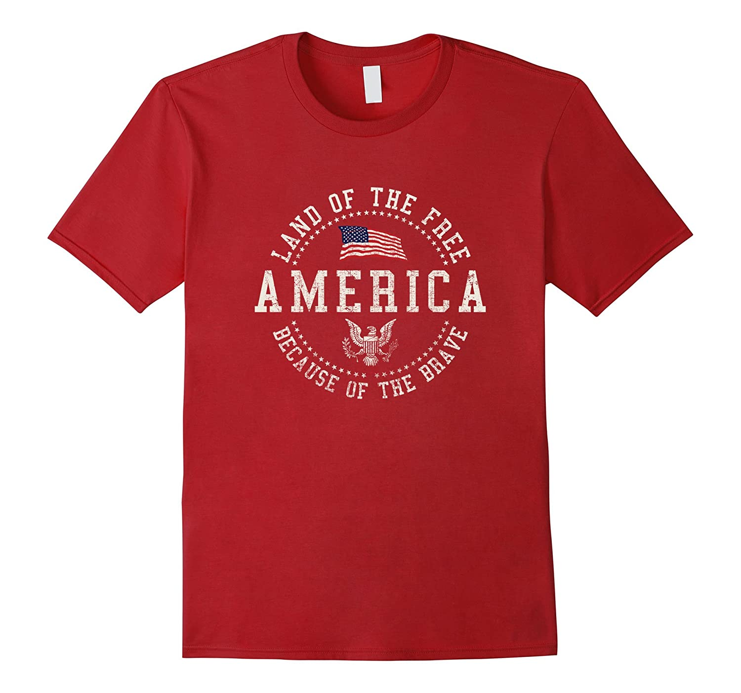 America 1776 Land Of The Free Vintage T-shirt-Vaci