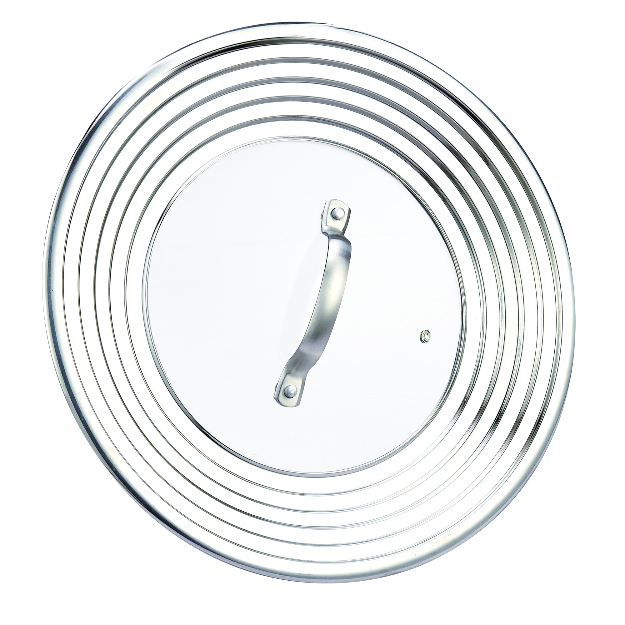 Cook N Home Stainless Steel Universal Lid, Fits 8 to 12-Inch, Glass Center