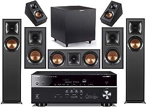Yamaha 7.2-Channel Wireless Bluetooth 4K 3D A/V Surround Sound Receiver + Klipsch Multimedia Home Theater Speaker System