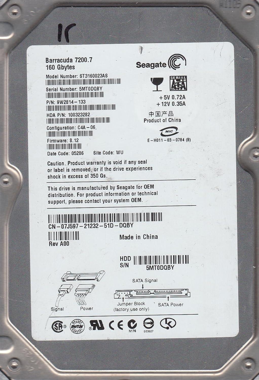 GENUINE OEM SEAGATE 7200.7 ST3160023AS 9W2814-133 FW:8.12 160GB Hard Drive HDD