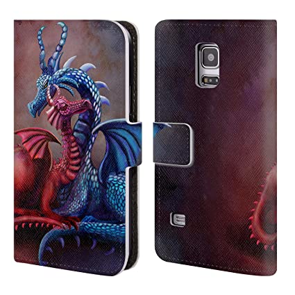 05181aff5a Amazon.com  Official Rose Khan Blue and Red Dragons Leather Book ...
