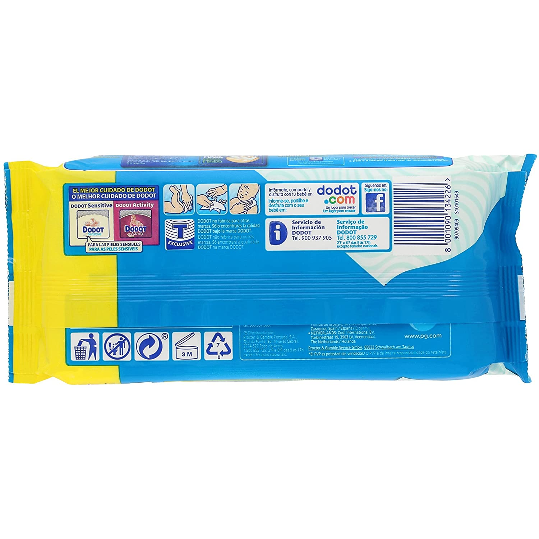 Dodot Toallitas - 1 Paquete de 64 toallitas: Amazon.es: Salud y cuidado personal