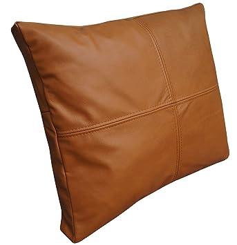 Quattro Meble Cognac Farbe Echtleder Kissen Sofa Stuhl