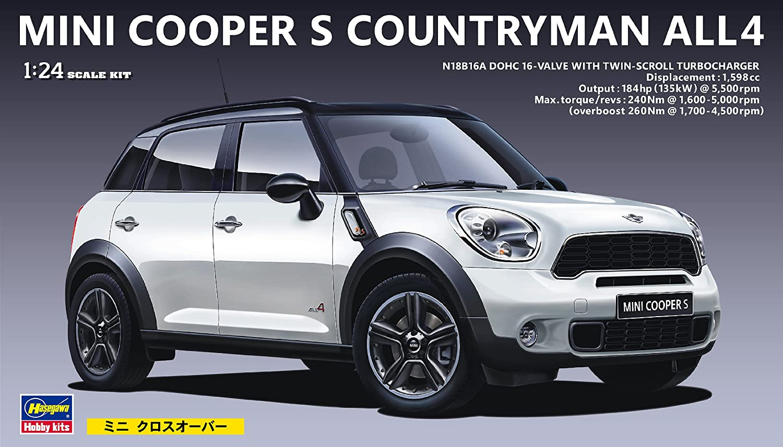 Hasegawa HMCD21 1:24 Scale BMW Mini Cooper Countryman Model Kit ...
