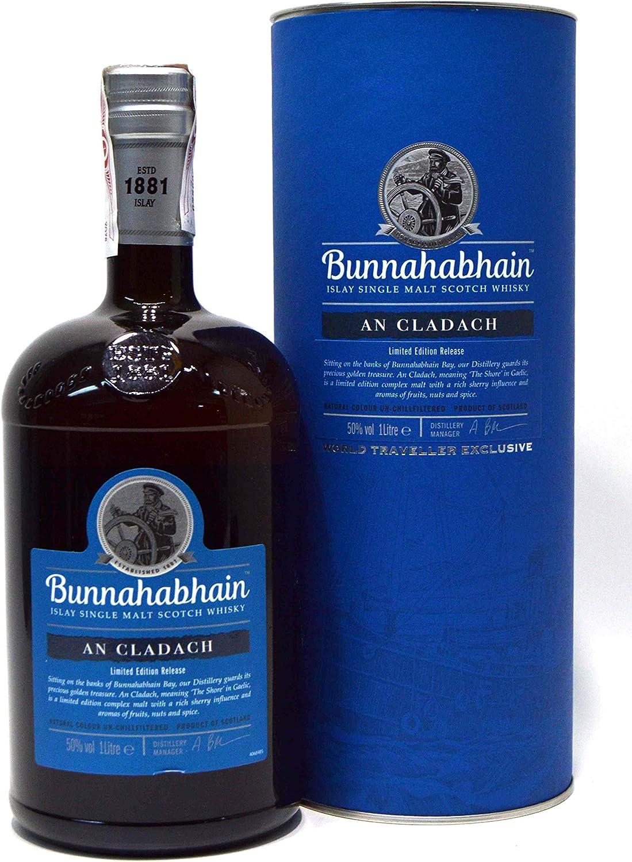 Bunnahabhain Whisky An Cladach 50º + Estuche - 1000 ml: Amazon.es: Alimentación y bebidas