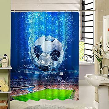 Image Unavailable Not Available For Color SeaCloud Soccer Shower Curtain