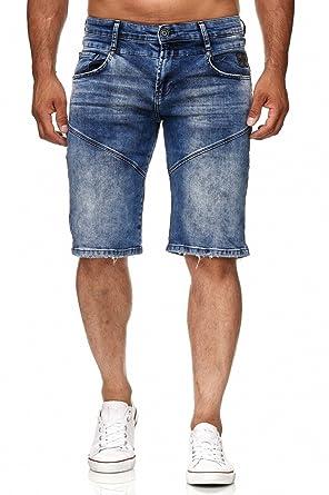 eee8dbd5e100 Rusty Neal Kurze Herrenjeans Hose Jeans Denim Blau Bermuda Shorts  A1-RN-13612, Größe L, Farbe Blau  Amazon.de  Bekleidung