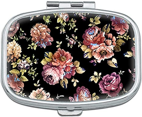 pink rose 1458 Pill Container Floral Flower Pill Box mint case Candy container Pill Case Mothers Day