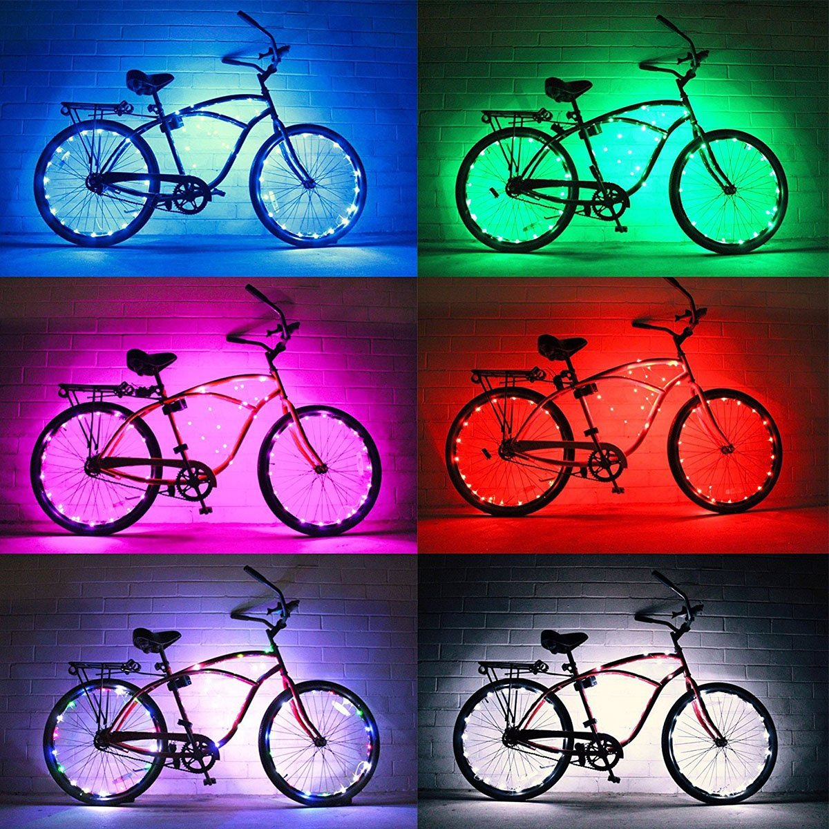 DIMY Bike Wheel Lights, LED Bike Wheel Light for Boys Toys for 5-16 Year Old Boys 5-14 Year Old Boy Gifts for Teen Girl Outdoor Toys Multicolor TTB07 by DIMY (Image #8)