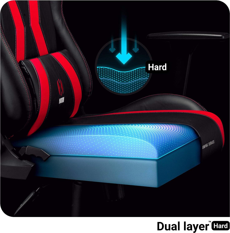 Diablo X-Horn Sedia Gaming Ufficio Braccioli 3D Design Ergonomico Collo//Cuscino Lombare Finta Pelle Meccanismo Oscillante Bianco, S