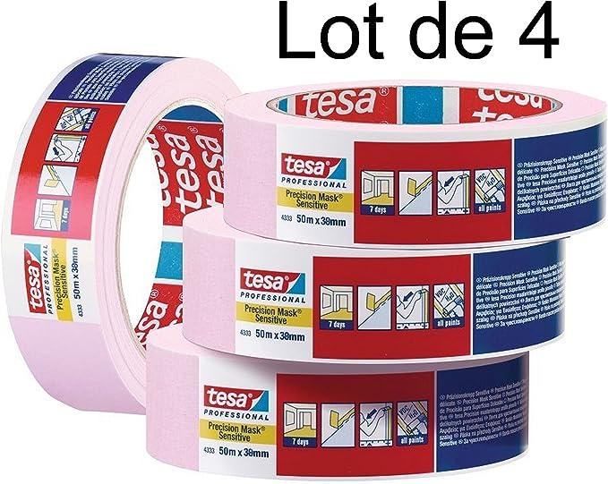 masquage sup/érieur d/élicat Ruban masquage Lot de 6 TESA KREPP Largeur 25mm