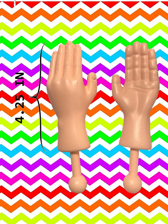 5 St/ück Mini Finger H/ände kleinen H/änden Lustige Fingerpuppe Finger Requisiten Winzige H/ände Streichspielzeug f/ür Game
