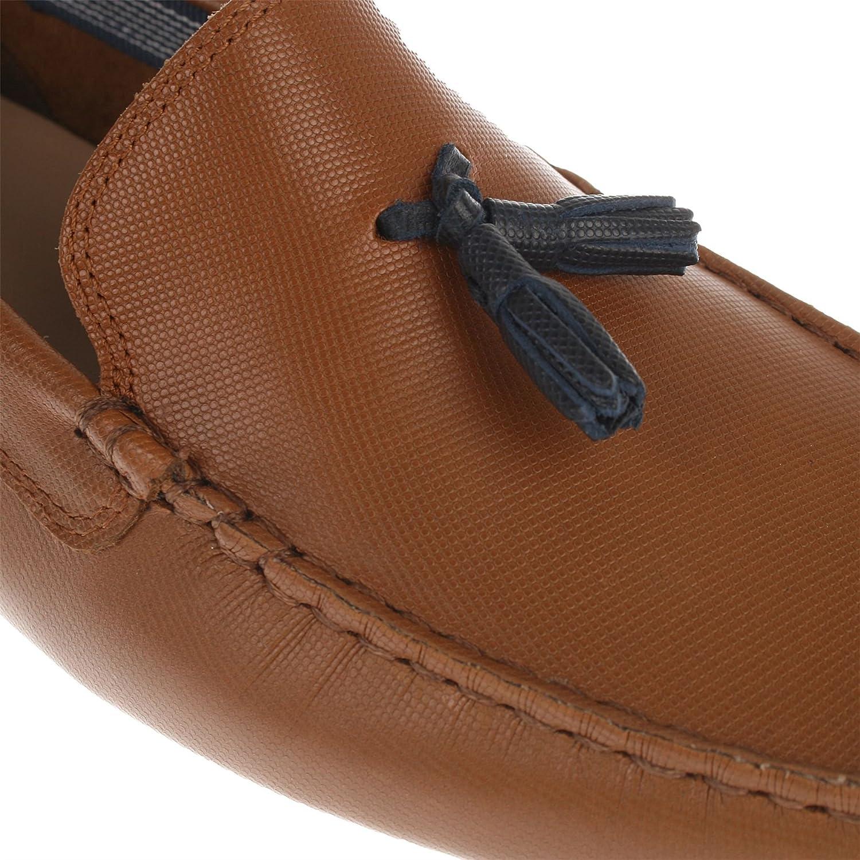 Lacoste Mocasines de Piel para hombre Marrón canela: Amazon.es: Zapatos y complementos
