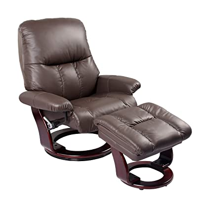 Groovy Amazon Com Coja Elise Leather Recliner And Ottoman Brown Bralicious Painted Fabric Chair Ideas Braliciousco