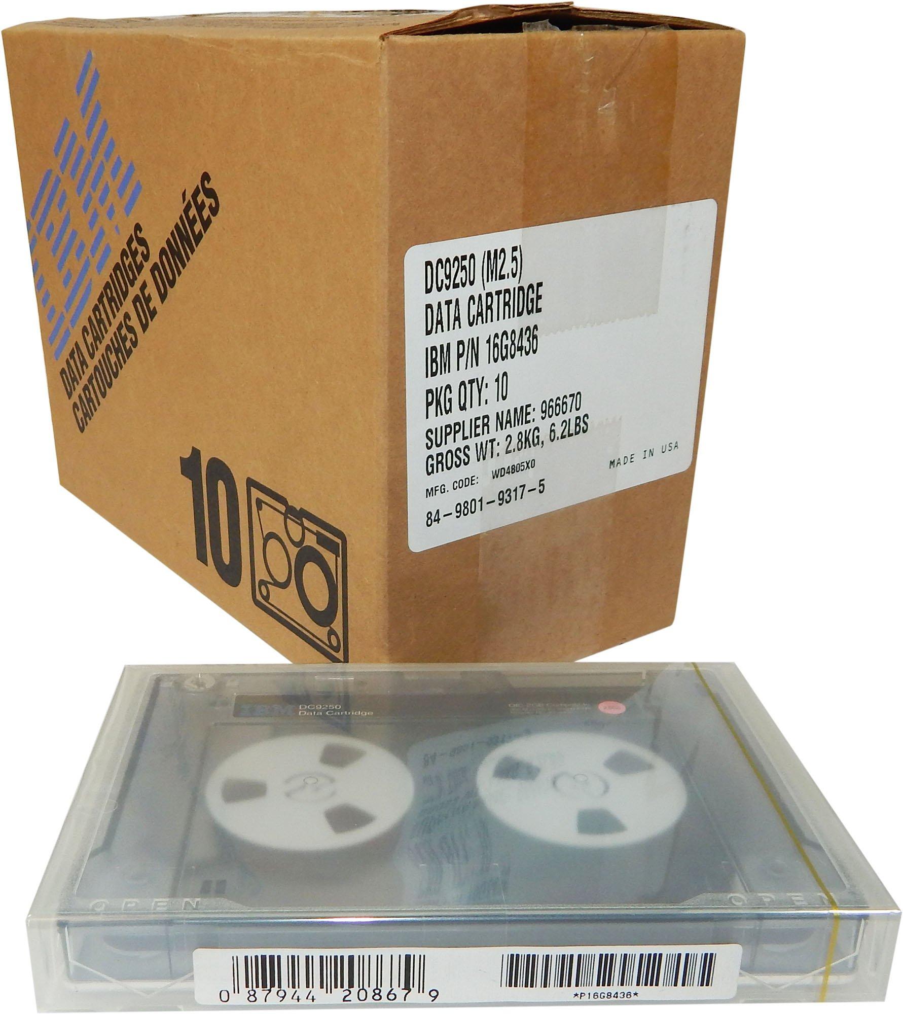 IBM 10/Pk DC9250 QIC 25Gb Data Cartridge 16G8436