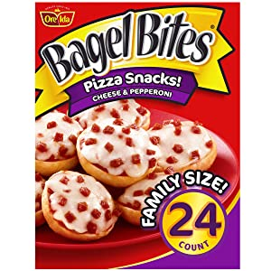 Bagel Bites Cheese & Pepperoni Mini Pizza Bagel Frozen Snacks (24 ct Box)