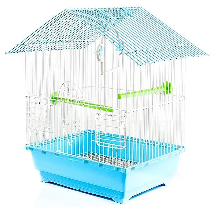 9 opinioni per Gabbia per uccelli In metallo, completa di accessori BIRD CAGE 30x23x39 cm due