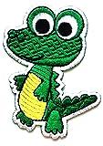 Nipitshop Patches Little Green Crocodile Eye Ball