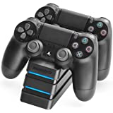 Snakebyte PS4 Twin:Charge 4 - Twin Docking Station for 2 Playstation 4 Dualshock Controller/Gamepad - Dual Charger