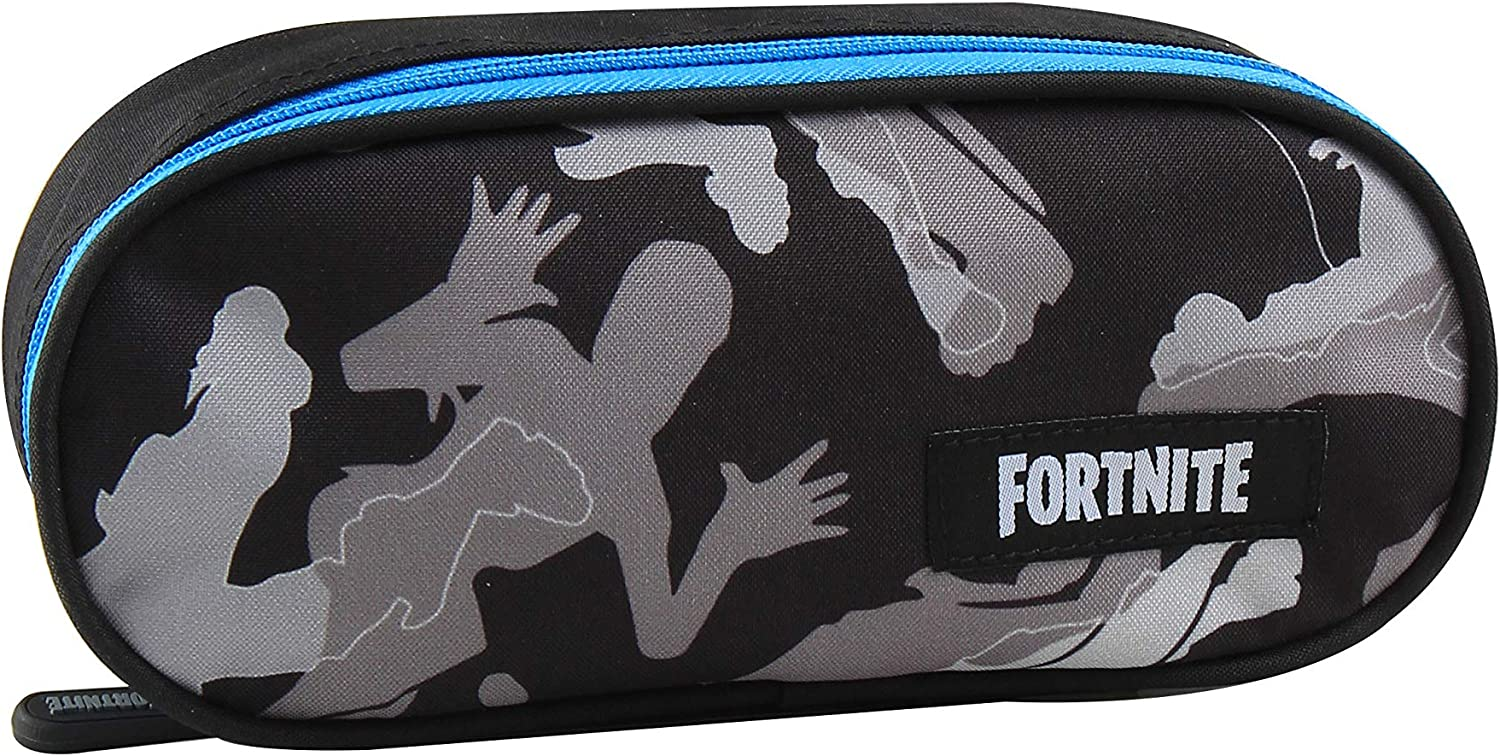 Fortnite XL Grey Edition - Estuche (22,5 x 9,5 x 5 cm), color gris: Amazon.es: Oficina y papelería