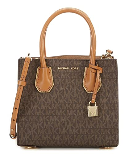 1dc9afb9bd7f85 Image Unavailable. Image not available for. Color: Michael Kors Studio  Mercer Cross Body Bag, Brown