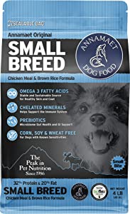 Annamaet Original Small Breed Formula Dry Dog Food, (Chicken & Brown Rice)