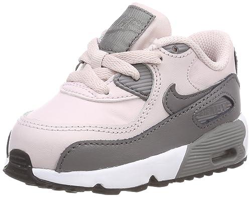 Nike Air MAX 90 Leather (TD), Zapatillas para Bebés, (Barely Rose/Gunsmoke-White-Black 601), 26 EU: Amazon.es: Zapatos y complementos