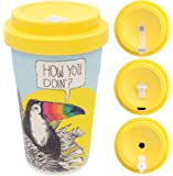 Mustard Coffee Cat Cup I Kaffee-to-Go Becher mit Silikon