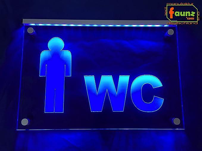 Nota Orientación LED Cartel WC + männlein Hombre L. (inodoro ...