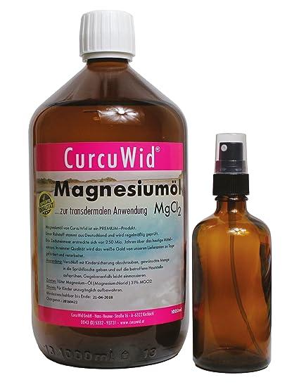 magnesiumöl Cloruro de magnesio 31% mgci2 para la aplicación transdermalen 1000 ml con pulverizador 100