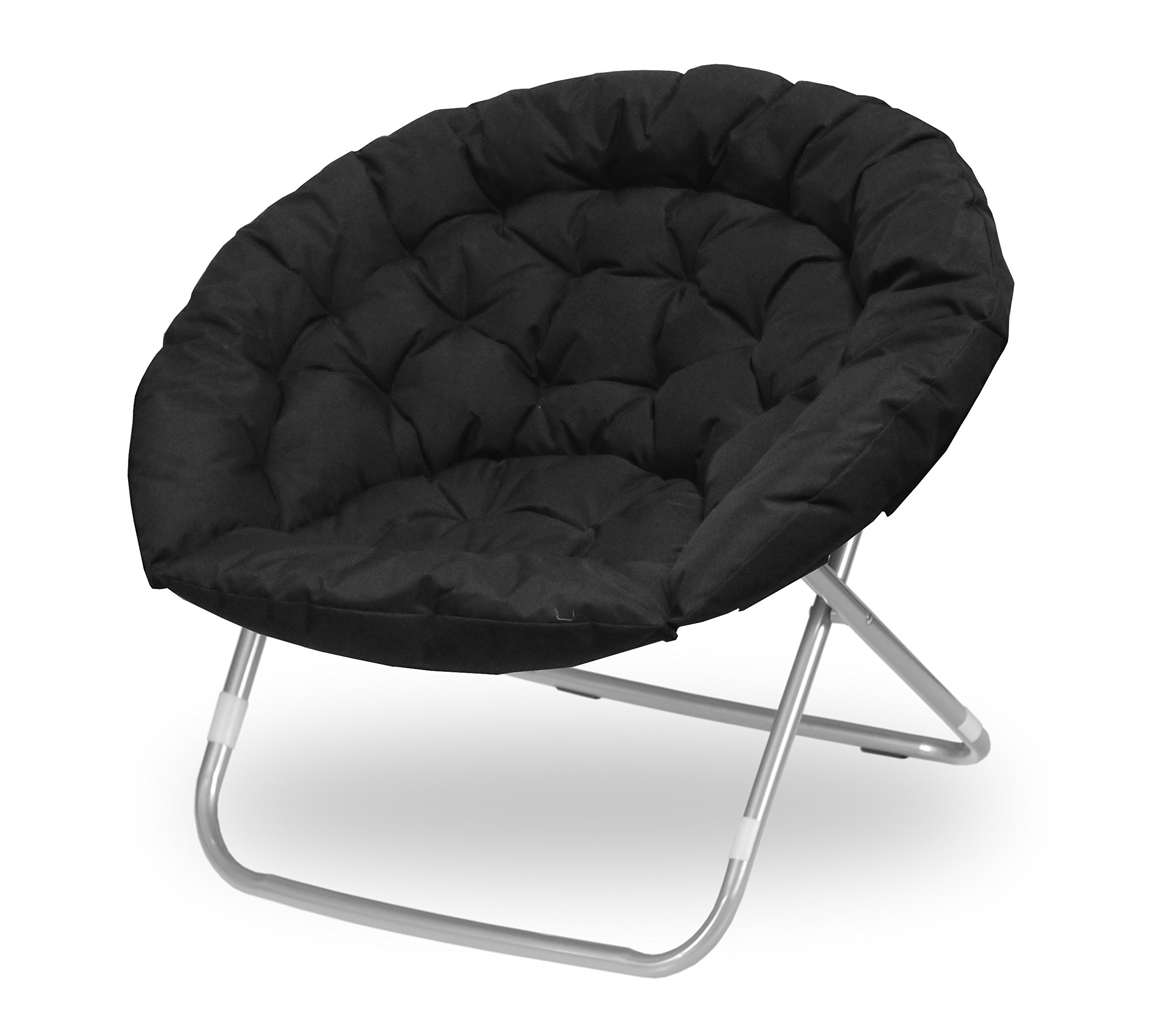 Urban Shop Oversized Saucer Chair, Black by Urban Shop