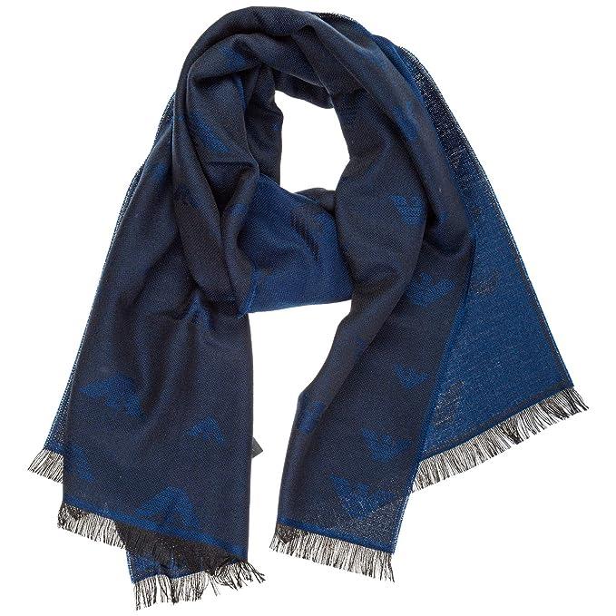 vendita professionale migliore vendita ottimi prezzi Emporio Armani sciarpa lana uomo blue lagoon: Amazon.it: Abbigliamento