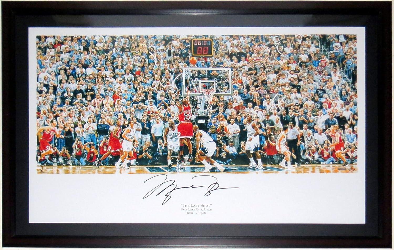 Michael Jordan Signed Chicago Bulls Last Shot 6.6 Seconds 28x42 - Upper Deck Authenticated UDA COA - Professionally Framed & UV Glass