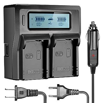 Amazon.com: Neewer – Dual LCD Cargador de batería para Canon ...