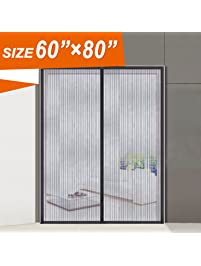 Magnetic Screen Door, Wide Mega Mesh 60 X 80.