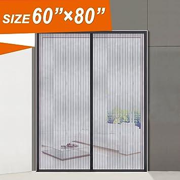 Magnetic Screen Door Wide Mega Mesh 60 X 80 Fit Doors Size Up to 58 & Magnetic Screen Door Wide Mega Mesh 60 X 80 Fit Doors Size Up to ... Pezcame.Com
