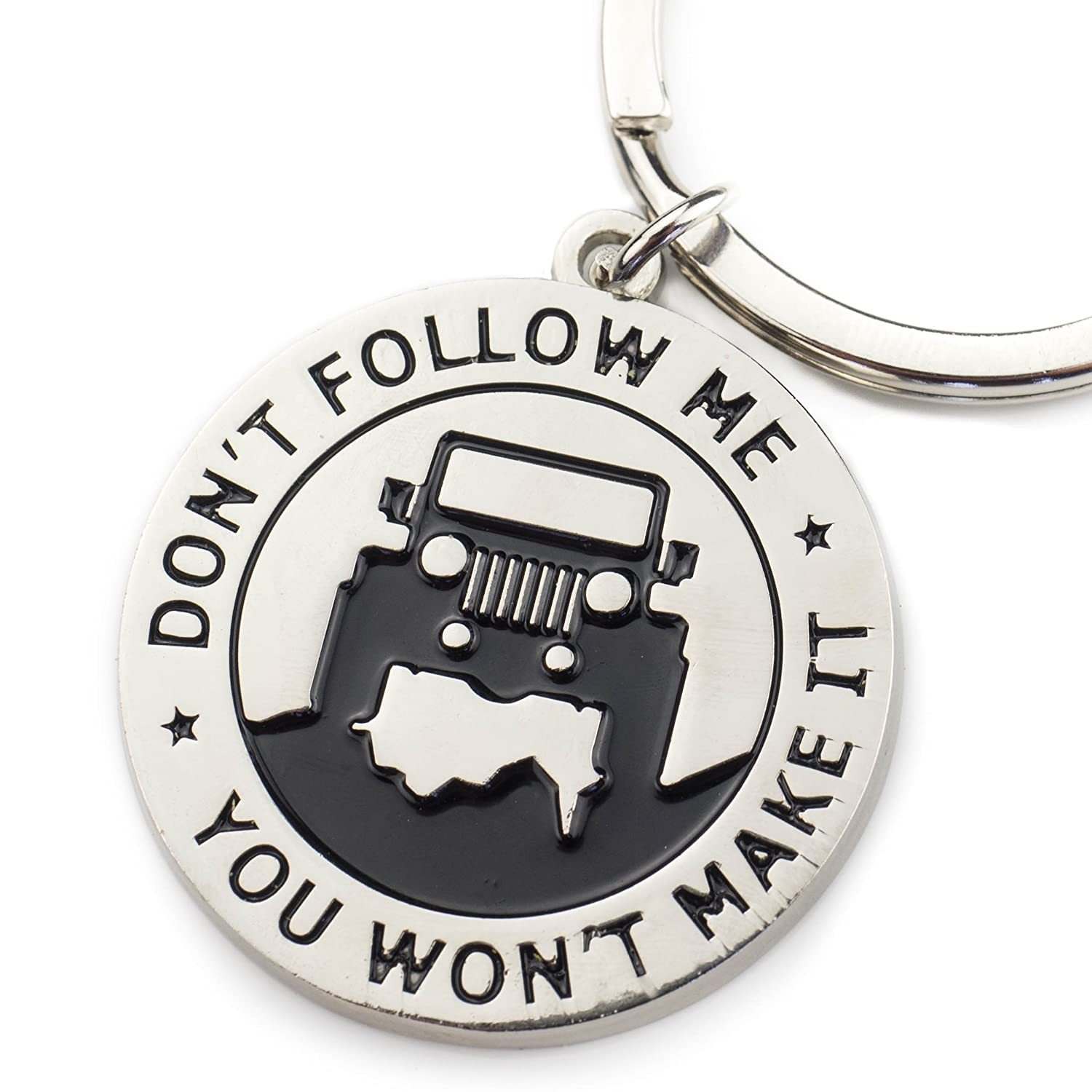 Wrenches & Bones Key Chain for Jeep Enthusiasts - Don