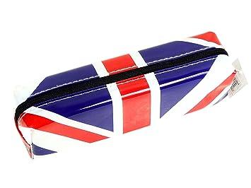 Elegante, moderno Reino Unido estuche, bandera de Inglaterra recuerdo cobrable real! Escuela aula cremallera/Speicher estudiante Souvenir/memoria! ...