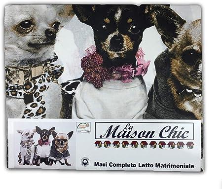 Lenzuola Matrimoniali Cani.Tex Family Completo Lenzuolo Lenzuola Cane Cani Chihuahua
