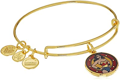 Alex and Ani Wonder Woman Expandable Charm Bracelet, Shiny Gold-Tone