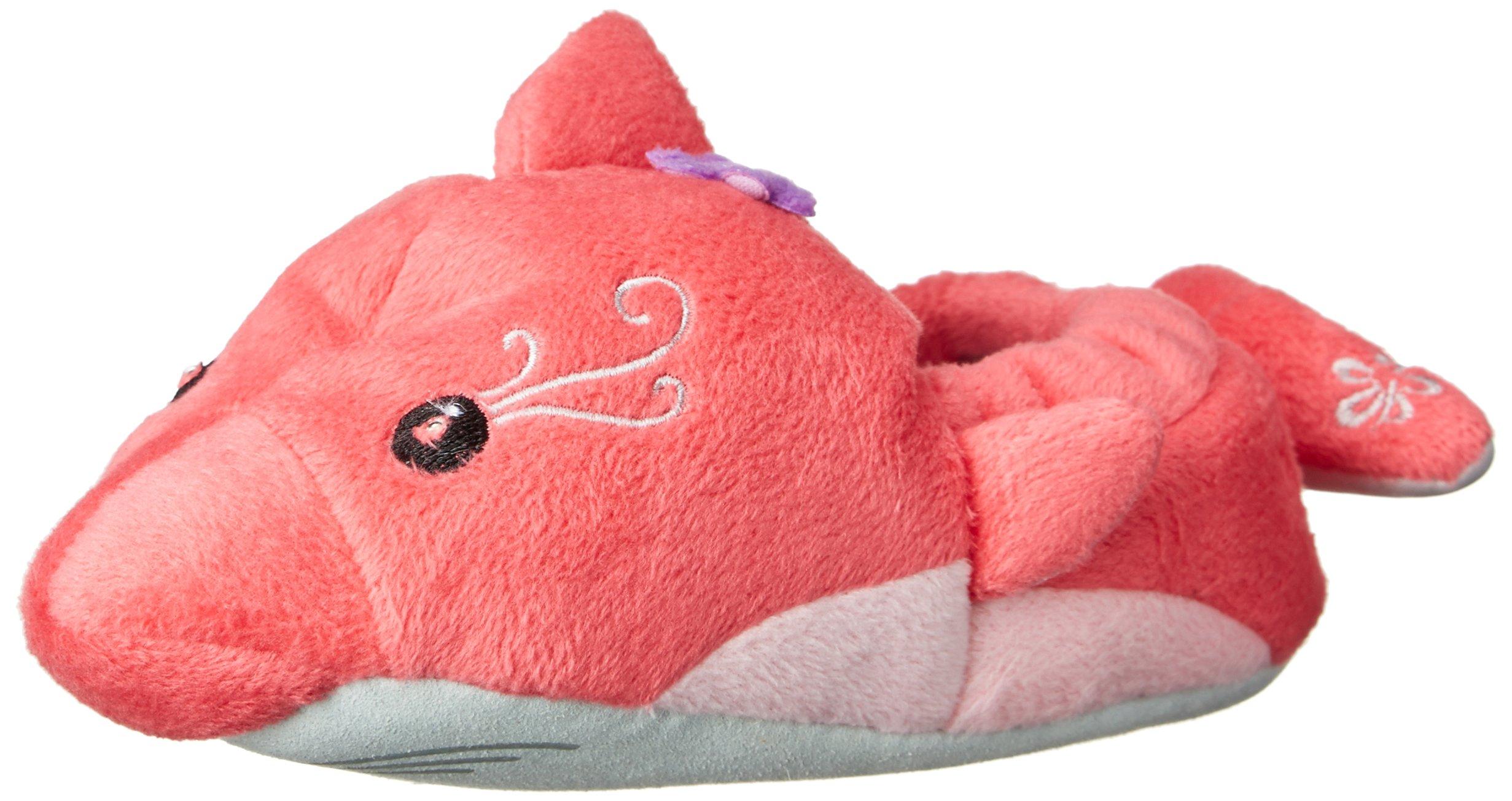 Stride Rite Girl's Light-Up Dolphin Slipper, Pink, 11/12