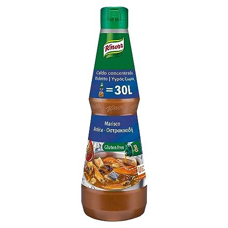 Knorr Caldo Liquido concentrado Marisco sin gluten - botella 1L: Amazon.es: Alimentación y bebidas