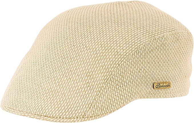 Sterkowski Sommer Leicht Baumwolle Schieberm/ütze Flat Cap