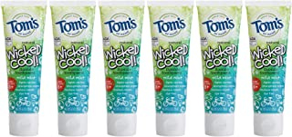 product image for Tom's of Maine Natural Wicked Cool Fluoride Toothpaste, Mild Mint, 4.2 Ounce (Pack of 6)